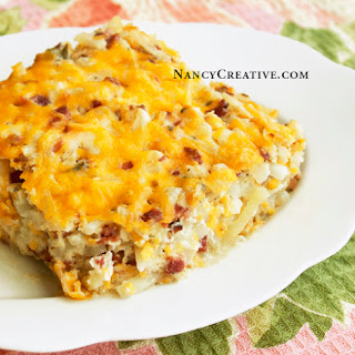Loaded Hash Brown Potato Casserole.