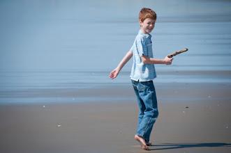 Photo: My son at the beach near Newport, OR