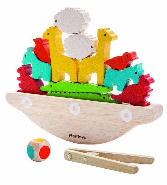 Contenido de PlanToys 5136 ¡Aguanta, Aguanta! (Balancing Boat)