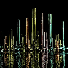 Screw City by James Johnstone - Artistic Objects Industrial Objects ( screws, nuts, washers, bolts,  )