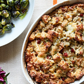 Herb and Apple Bread Pudding