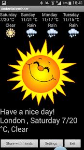 Umbrella Reminder - screenshot thumbnail