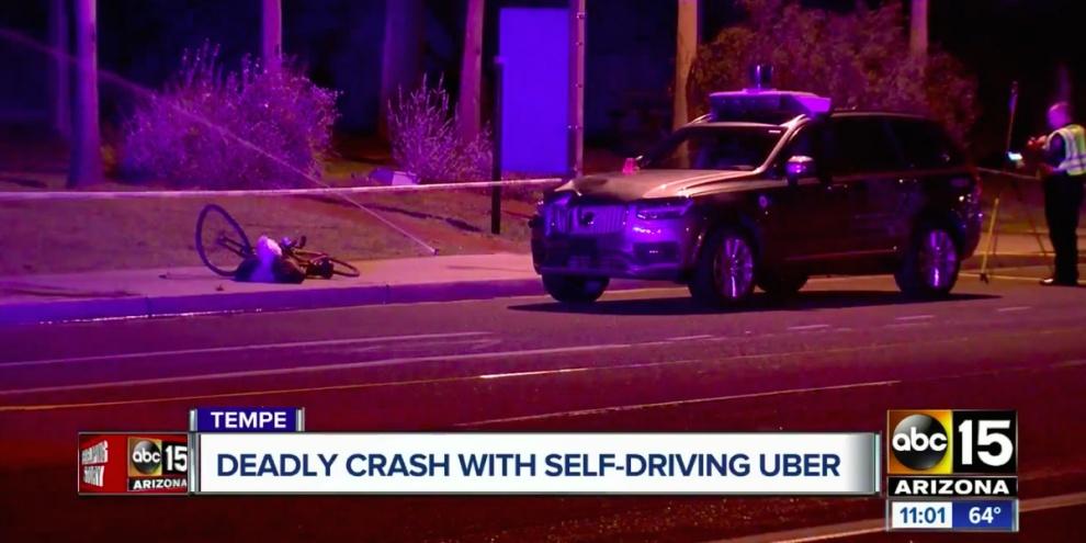 Acidente com carro autônomo com primeira morte foi falha humana. (Fonte: ABC 15/Reprodução)