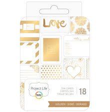 Project Life Themed Cards 3X4 18/Pkg - Golden