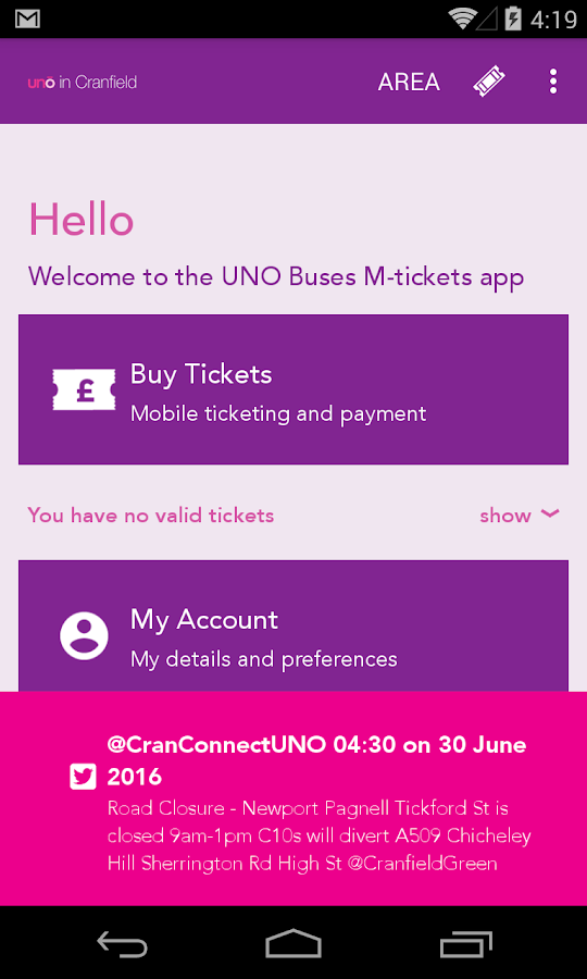 UNO BUS- screenshot