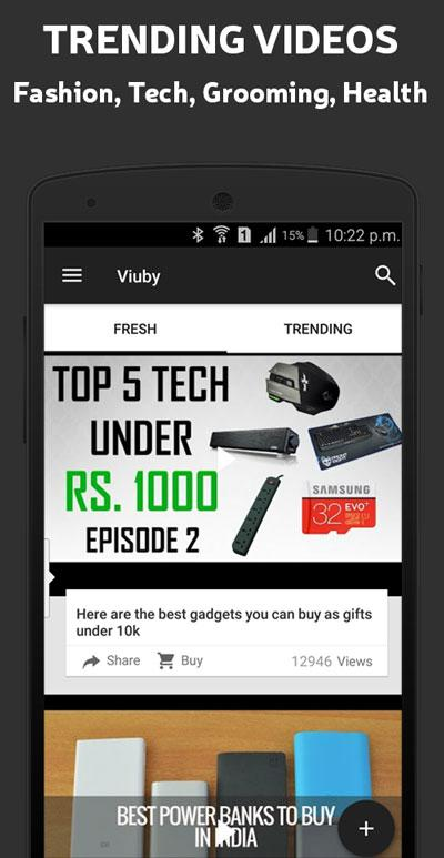 Viuby Mens Favourite Video App- screenshot