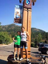 Photo: TMT athletes Dave and Colleen ready to go in Lake Tahoe