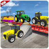 Heavy Duty Tractor Cargo Train Transport
