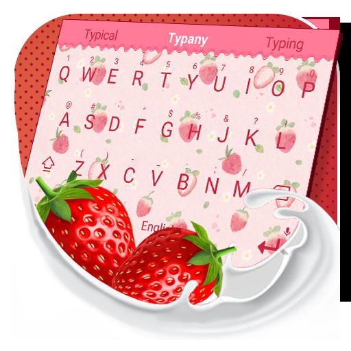 Sweet Strawberry Theme&Emoji Keyboard