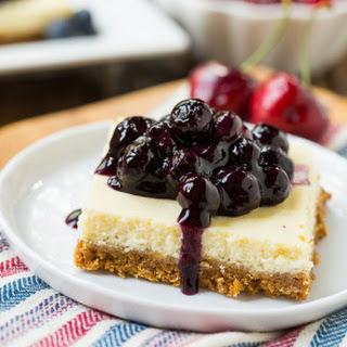 Lightened-Up Cheesecake Bars with Fruit Topping