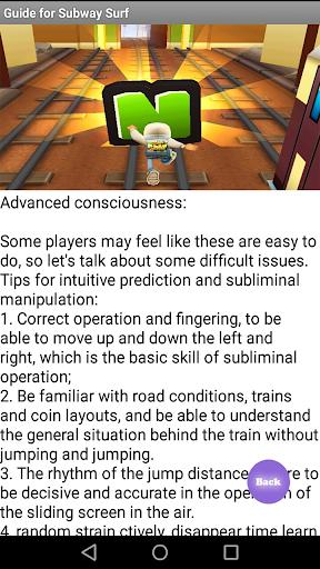 Guide Subway Surf 1 screenshots 4