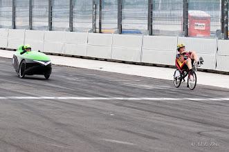 Photo: En dan de finish: Pieter wist halverwege de laatste ronde toch langs de Strada te komen en won dus de race.