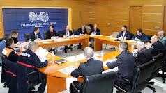 Reunión de la Junta Local de Seguridad en El Ejido.