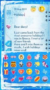 Winter Princess Diary (with lock or fingerprint) 5