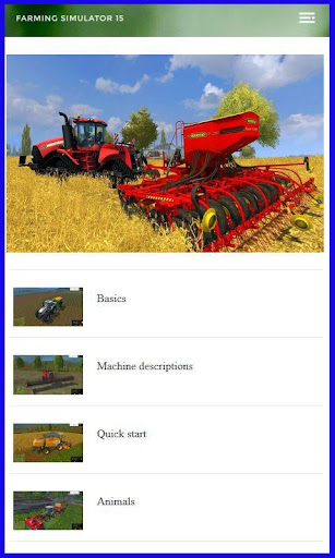 Guide for Farming Simulator 15