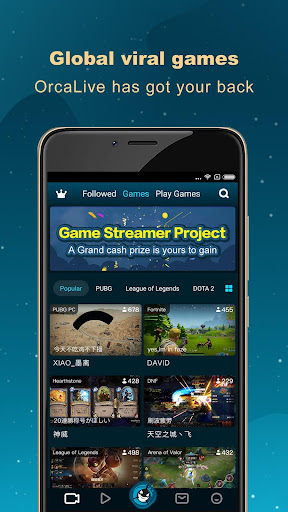 OrcaLive - global gamers and viewers by your side - screenshot