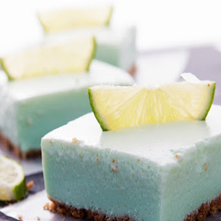Skinny Key Lime Cheesecake Bars.