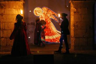 Photo: Les anges de Fra Angelico sur les murs.