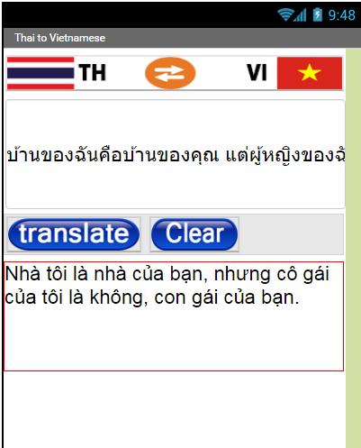 Thai Vietnamese Translate 1.1.3 screenshots 1