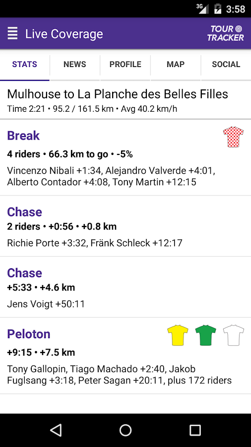 Tour Tracker Tour de France 2017- screenshot