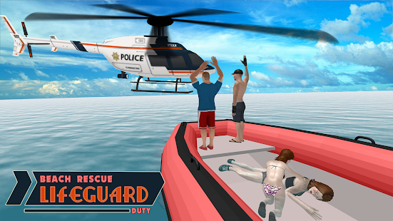 Lifeguard Beach Rescue Duty: Boat Rescue Team - náhled