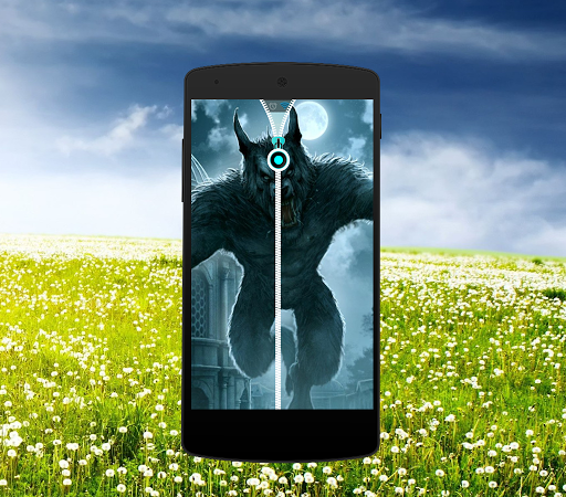 WereWolf Zipper Screen Lock