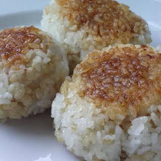 "Japanese Tuna Grilled Rice Balls (""ツナ""焼きおにぎり - Tuna Yaki Onigiri)."