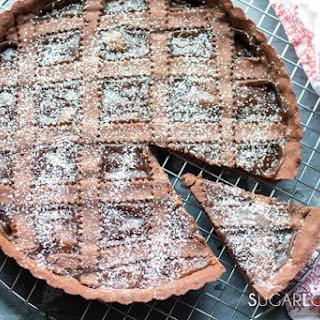 Chocolate Crostata with Chestnut Jam.