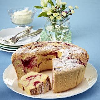 Gluten Free Raspberry Marble Cake.