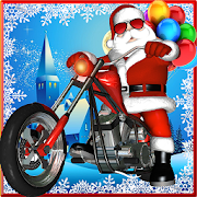 Game Santa Claus Bike Racing: Gift Race Winter Games apk for kindle fire