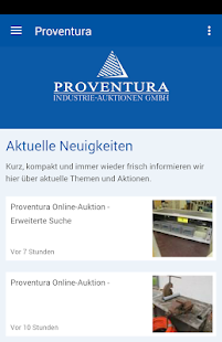 Proventura Industrie-Auktion- screenshot thumbnail