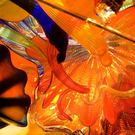 Grandma's Favorite Attraction by Wilson Silverthorne - Artistic Objects Glass ( orange, glass, childrens museum, indianapolis )