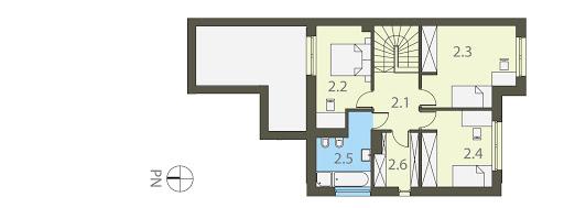 Twin Modern B - Bliźniak - Rzut piętra