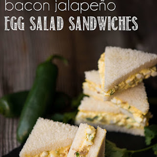 Mini Bacon Jalapeno Egg Salad Sandwiches.