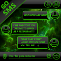 THEME GO SMS DARK SPACE GREEN icon