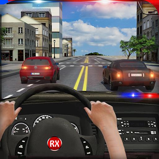 Police Chase in Car
