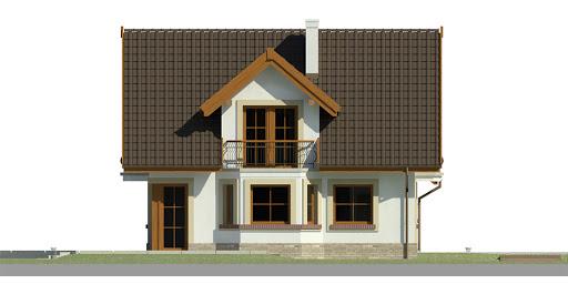 Dom przy Cyprysowej 15 K - Elewacja prawa