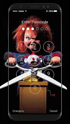 Chucky Wallpapers HD Slide Unlock Screen Screenshot 6