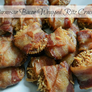 Parmesan Bacon Wrapped Ritz Crackers.