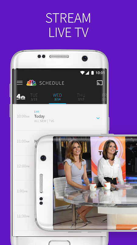 The NBC App screenshots