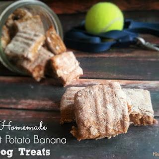 Homemade Sweet Potato Banana Dog Treats