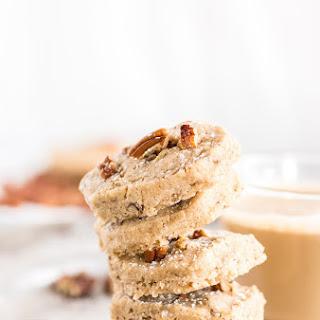 Pumpkin Spice Pecan Shortbread Cookies