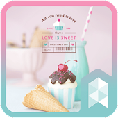 Love is sweet Launcher theme