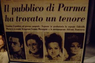Photo: Ankündigungsplakat für José Carreras (Il trovatore)