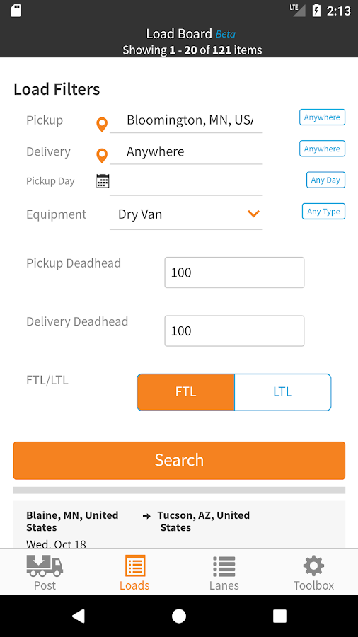 HaulHound: Trucking Loadboard & Freight Matching- screenshot