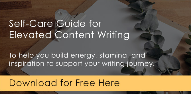 Self-Care Guide for Elevated Content Writing