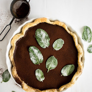 Dark Chocolate Mint Julep Pie