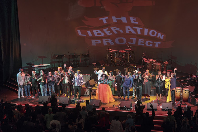 The Liberation Orchestra performing at Johannesburg Theatre on Africa Day. Picture: CLIVE HASSALL