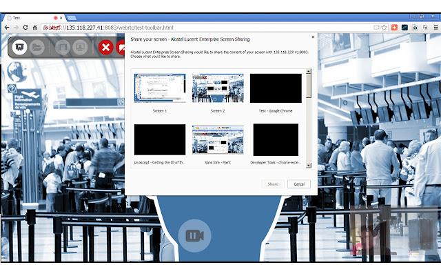 Alcatel Lucent Enterprise Screen Sharing