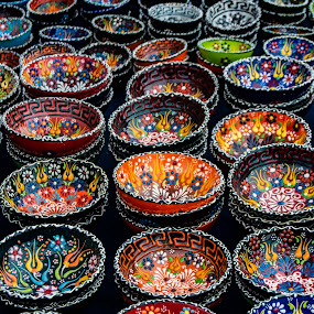 Greek Bowls by Don Kuhnle - Artistic Objects Cups, Plates & Utensils ( festival, objects, patterns, bowls, colors,  )